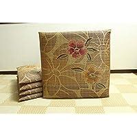 純国産/日本製 袋織 織込千鳥 い草座布団 『なでしこ 5枚組』 ベージュ 約60×60cm×5P 生活 [並行輸入品]