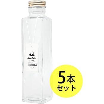 ガラス瓶角型150ml×5本セット (スクリューキャップ付) ハーバリウムに最適 マカダミ屋