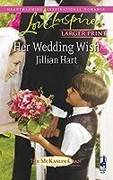 Her Wedding Wish (Love Inspired Large Print)