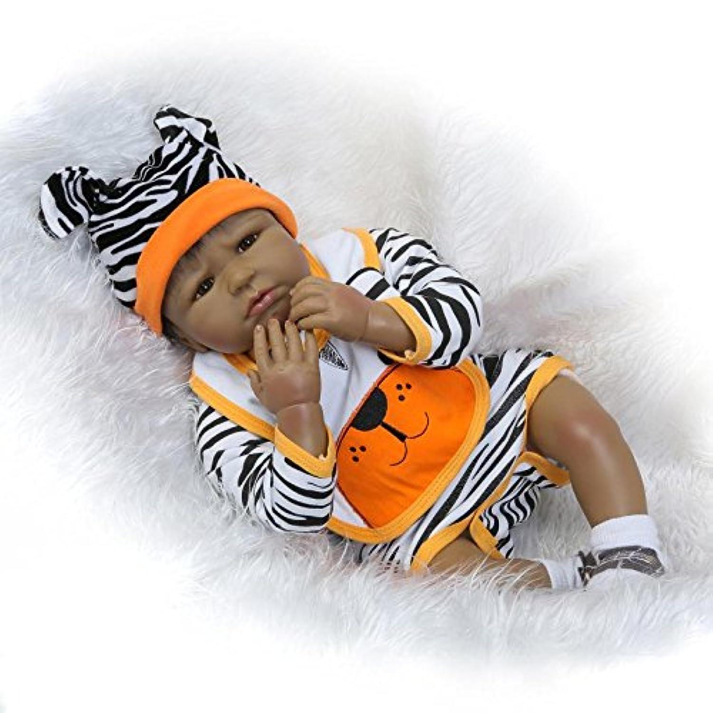 Maide Rebornベビー人形22インチRealisticソフトSiliconeビニール人形新生児ブラックベビー人形with Clothes