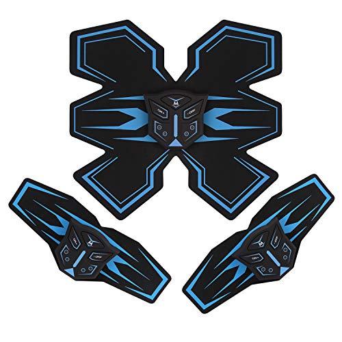 Tenswall EMS 腹筋ベルト 腹筋パッド USB充電 6種類モード 10段階強度 多機能 携帯便利 自動オフ 男女兼用 腹筋 腕筋 日本語説明書付属