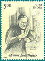 Louis Pasteur Personality, French Chemist Microbioligist Vaccination Rs.5 Indian Stamp