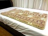 NaturalHouse ごろ寝マット 70 x 130 cm 中わた ポリエステル ( 合繊 繊維 ) 中芯 ポリウレタン 表 マイクロファイバー 素材 裏 スベリ止 仕様
