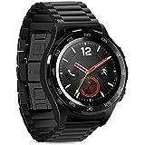 Huawei Watch 2Proバンドストラップ、Xihamaステンレススチール、クイックリリース、22mm時計バンド、withバタフライバックルHuawei Watch 2Proストラップfor Huawei Smart Watch ブラック