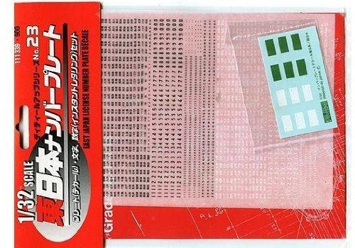 ディティールアップシリーズ Dup-23 1/32 東日本ナンバープレートデカール