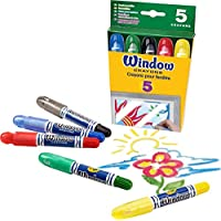 ガラス用クレヨン Crayola Washable Window Crayons 5色セット [並行輸入品]