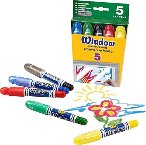 ガラス用クレヨン Crayola Washable Window Crayons 5色セット [並行輸入品] -