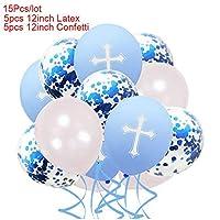 誕生日記念パーティーBollons | ハッピーイースター紙吹雪バルーンブルー・ピンクイースタークロス風船ハートパーティーの装飾バルーン神の聖霊のおもちゃのために玉ブレス、D