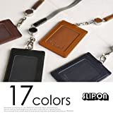 スリップオン slip-on ノワール Noir リール付き縦型IDケース カードケース おしゃれ メンズ ビジネス
