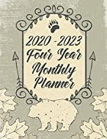 2020 - 2023 Four Year Monthly Planner: Vintage Bear and Nature Theme Calendar, Notebook and More
