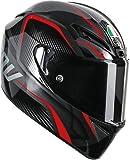 AGV エージーブイ GT VELOCE TXT Helmet 2015モデル ヘルメット ブラック/レッド XL(61~62cm)