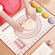 ProAussie Large Silicone Baking Mat for Rolling Dough (40cmx60cm) Pastry Mat with Measurements Extra Thick Non