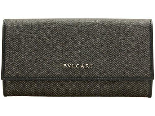 (ブルガリ) BVLGARI 財布 長財布 二つ折り WEEKEND ダークグレー PVC レザー 32585 アウトレット [並行輸入品]