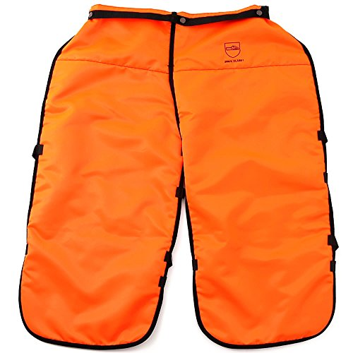 Mt.SUMI(マウント・スミ) チャップス ヨーロッパの安全基準 EN381クラス1 チェンソー 保護エプロン 保護具 改良版ポケット付き(オレンジ)