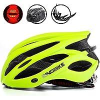 KINGBIKE自転車ヘルメット大人のロードバイク/サイクリングヘルメットシンプルなヘルメットのバックパックメンズ女性との超軽量高剛性LEDライトヘルメット56-63 CM M/L / XL