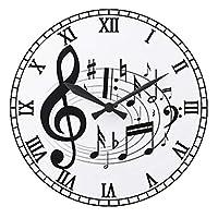 音楽家のための、音符の壁掛け時計 2:ピクチャークロック(グッドデザインシリーズ) (A) [並行輸入品]