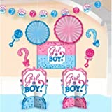 Girl or Boy Gender Reveal Baby Shower Room Decorating Kit 10pc