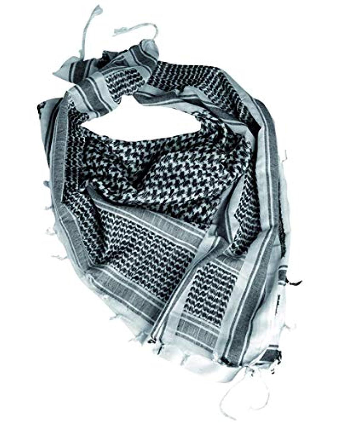 協力的バーストとても多くのMil-Tec Shemagh White / Black by CamoOutdoor