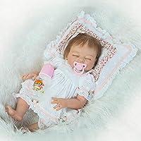 Reborn新生児Girl Sleepingフルボディシリコンベビービニール人形20インチでリアルな子磁気おもちゃおしゃぶり