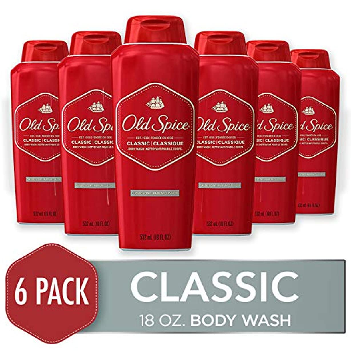 リフト実施するコンパニオンOld Spice Body Wash Classic Scent 535 ml (Pack of 6) (並行輸入品)