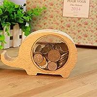 小さな動物木製貯金, 貯金箱飾り かわいい漫画のギフト-