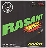 andro(アンドロ) 卓球 ラバー 回転テンション系 裏ソフトラバー ラザントターボ 112216 レッド 1.7