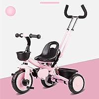 YANFEI 子ども用自転車 パターハンドル付き子供用三輪車の取り外し可能な三脚 子供用ギフト