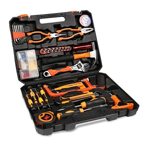 ZOTO ホームツールセット 工具セット 作業道具セット ガレージツールセット ツールキット 家庭修理&作業用 100点