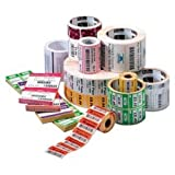 Zebra Z-select 4000t Thermal transfer Label (2.25 Width X 0.75 Length) 3320/roll, 1 Core - 6 / Carto