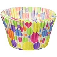 Cupcake Creations Jumbo Rainbow Dots Baking Cups , Multicolor by Cupcake Creations