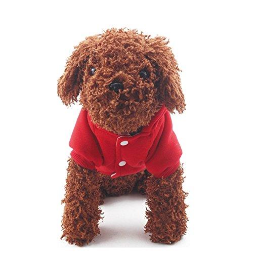 (サンライン)Sun Line 犬の服 冬 クリスマス ドッグウェア ペット犬パーカ コスプレ お出かけ 散歩 4サイズ (M, レッド)