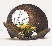 信楽焼陶器 花器 名月 専用ミニ植木鉢付 高さ29.0cm hk-0502