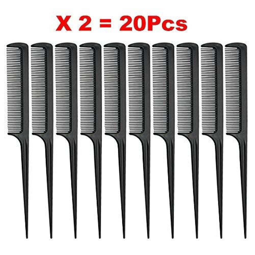 出口オールテロリストRat Tail Comb, Black, 8.3 Inch - Pack of 20 (Tail Comb) [並行輸入品]