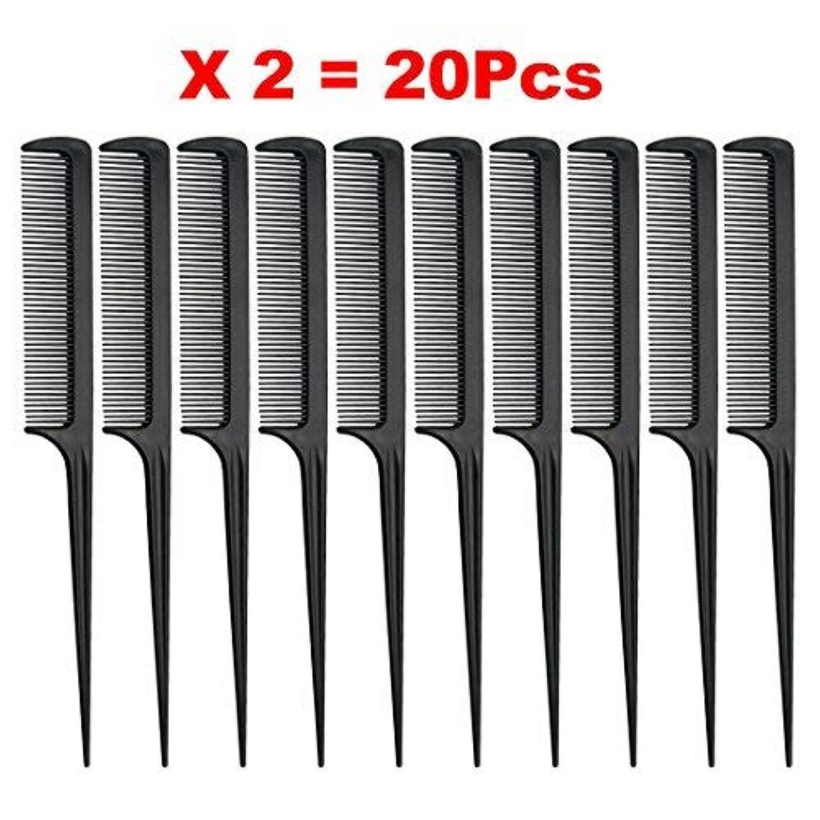 パン光沢トライアスロンRat Tail Comb, Black, 8.3 Inch - Pack of 20 (Tail Comb) [並行輸入品]