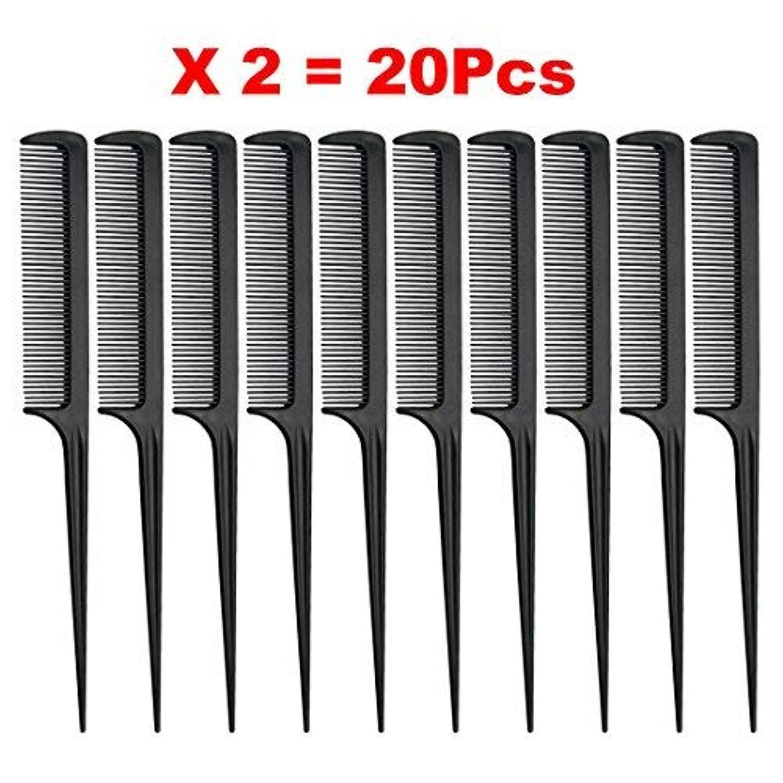 警告するリズム爆風Rat Tail Comb, Black, 8.3 Inch - Pack of 20 (Tail Comb) [並行輸入品]