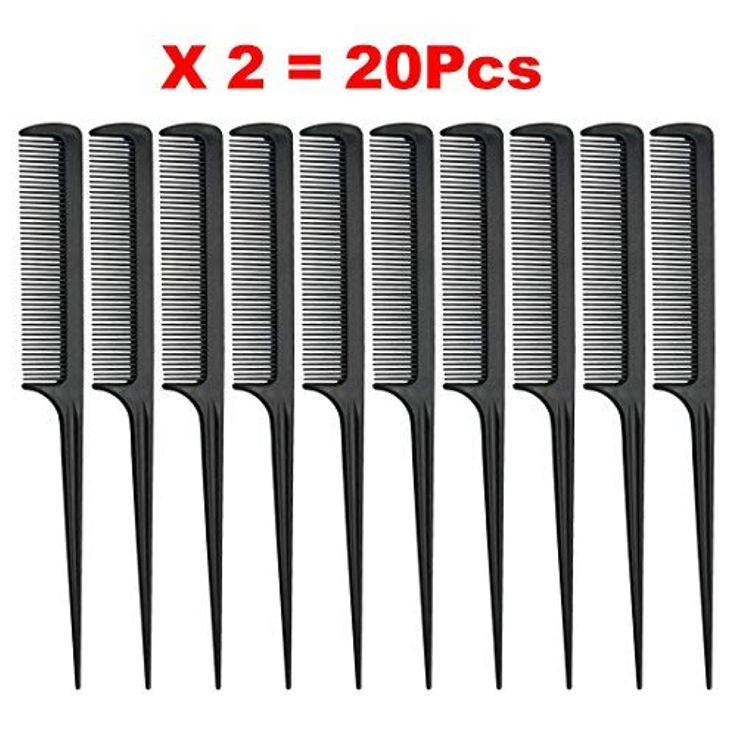 漫画トランペットポンプRat Tail Comb, Black, 8.3 Inch - Pack of 20 (Tail Comb) [並行輸入品]