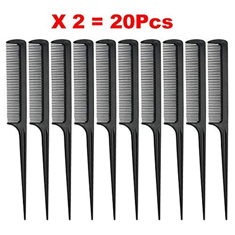 真向こうハイキングもろいRat Tail Comb, Black, 8.3 Inch - Pack of 20 (Tail Comb) [並行輸入品]