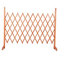 YYFANG 木製フェンスガーデンヴィラ防食加工木製ボーダー高温炭化ガーデンのインテリア耐候性のある含浸、3サイズ (Color : Orange, Size : 120x100cm)