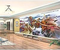 Weaeo カスタム写真の壁画の3D壁紙Wanli万里の長城中国の風景のリビングルーム家のインテリア3D壁の壁画壁3D-200X140Cm
