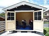 パルメ(人気の2.5坪サイズ)大開口フレンチドア付プチログハウス