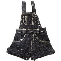 Baoblaze 1/6 ブライスドール 人形用 Tシャツ+ジャンプスーツ セット 服 アクセサリー 全2色  - ブラック