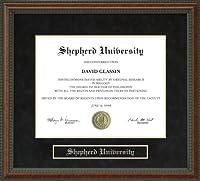 Shepherd大学卒業証書フレーム wv-shepherd-91-burl