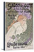 Salon Des Centヴィンテージポスター(アーティスト: Bouisset )フランスC。1899 24 x 36 Gallery Canvas LANT-3P-SC-58652-24x36