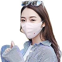 フェイスカバー UV カット 全4色 UPF 40+ 花粉 対策 日焼け防止 UVガード マスク (耳かけヒモ付き)【Anyfashion】