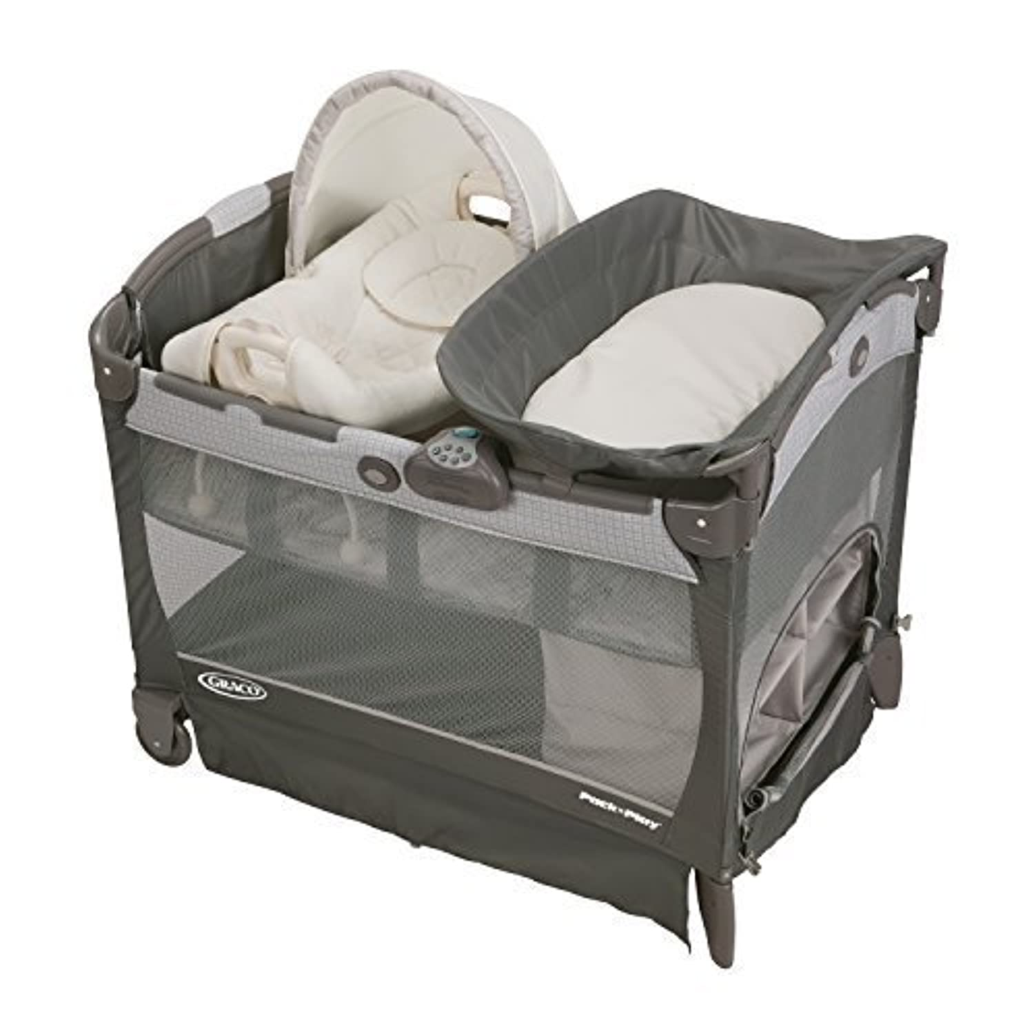 Graco Pack 'N Play Playard with Cuddle Cove Removable Seat Glacier by Graco [並行輸入品]