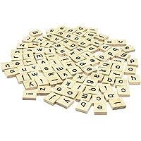 500のセット+ 100フリー木製Scrabbleタイル文字forボードゲーム、壁装飾& Arts and Crafts