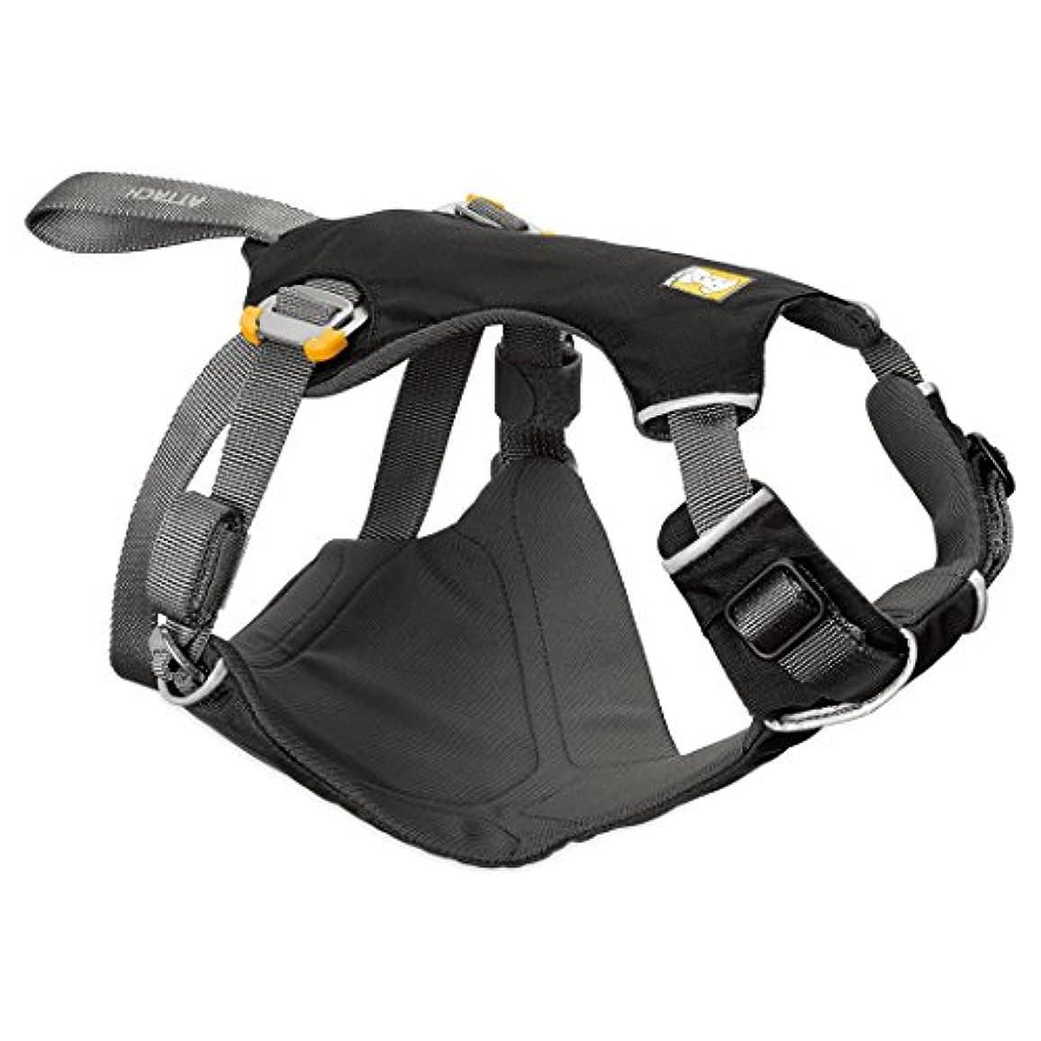 うれしい円周スクリーチ[RUFFWEAR(ラフウェア)] 犬用シートベルト ロードアップハーネス S ブラック 【正規輸入品】