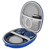 LinkIdea Headphone Case Hard Travel Carrying Storage Bag Case for JBL T600BTNC, Live 400BT, Tune 500BT, T450BT, E45BT with Space for Cable, Adapter, Parts (Blue)