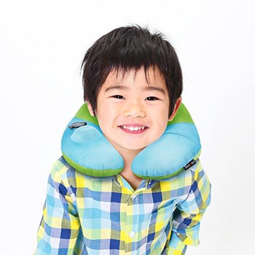 ネックピロー 子供用 BestMaxs U型 携帯枕 手動プ...
