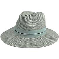 011cd0f1dde Ayliss Straw Panama Hat Short Brim Trilby Fedoras for Women Men